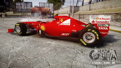 Ferrari 150 Italia Massa para GTA 4 esquerda vista