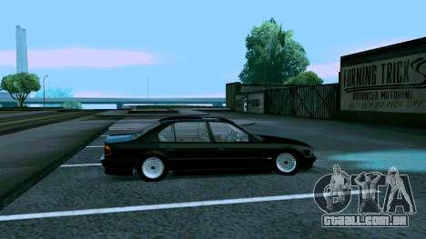 BMW 750iL para GTA San Andreas traseira esquerda vista