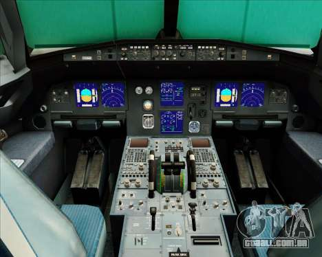 Airbus A321-200 Air Busan para GTA San Andreas interior