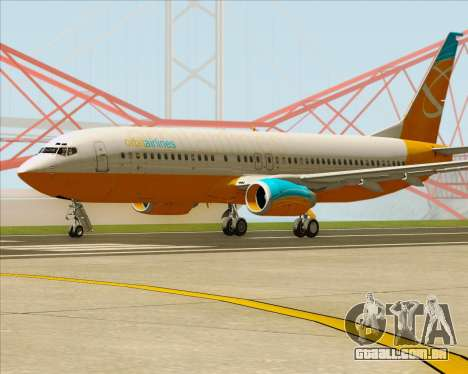 Boeing 737-800 Orbit Airlines para GTA San Andreas traseira esquerda vista