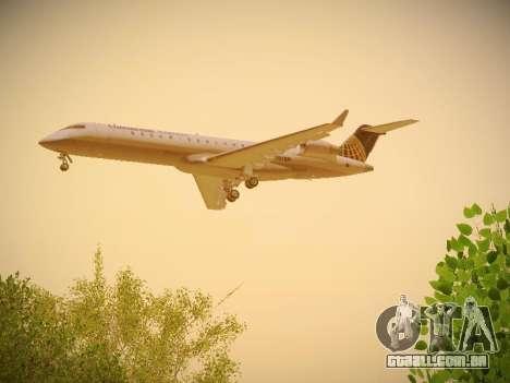 Bombardier CRJ-700 Continental Express para GTA San Andreas vista direita
