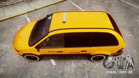 Schyster Cabby Taxi para GTA 4 vista direita