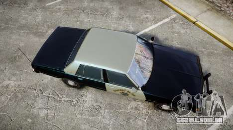 Chevrolet Caprice 1986 Brougham Police [ELS] para GTA 4 vista direita