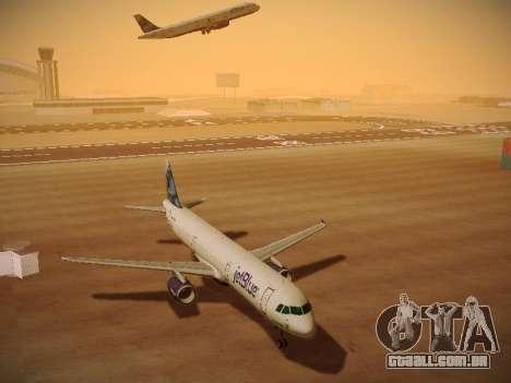 Airbus A321-232 jetBlue La vie en Blue para GTA San Andreas vista interior