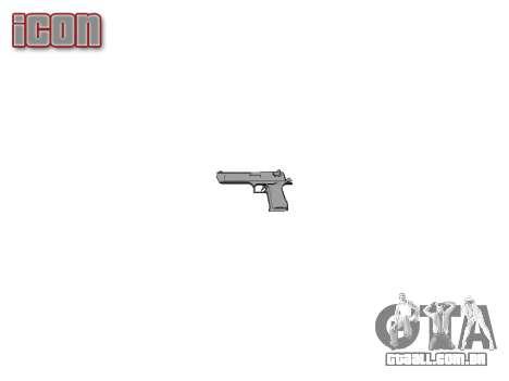 Пистолет IMI Desert Eagle Mk XIX Chrome para GTA 4 terceira tela