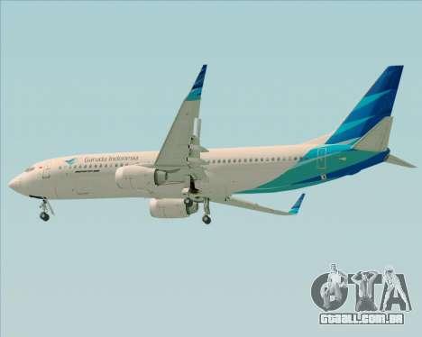 Boeing 737-800 Garuda Indonesia para GTA San Andreas vista direita