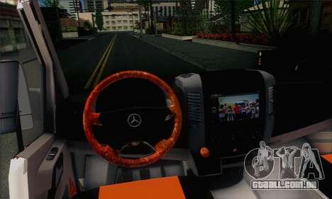 Mercedes-Benz Sprinter Servis para GTA San Andreas traseira esquerda vista