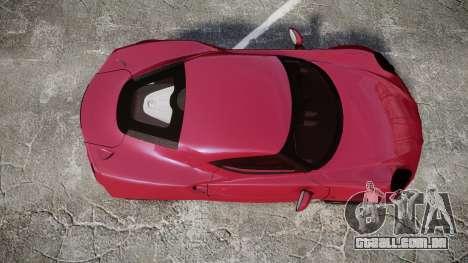 Alfa Romeo 4C para GTA 4 vista direita