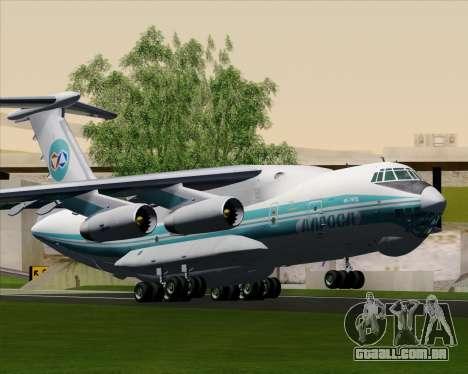IL-76TD ALROSA para GTA San Andreas vista traseira