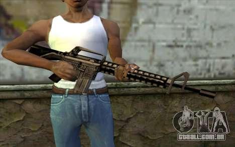 M16 from Beta Version para GTA San Andreas terceira tela