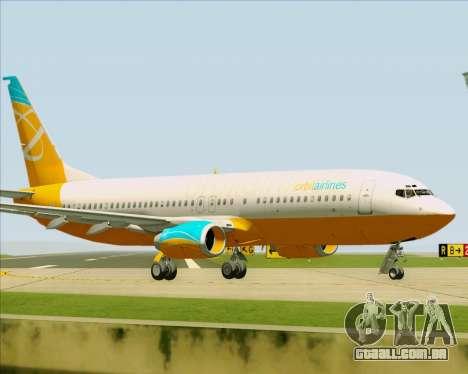 Boeing 737-800 Orbit Airlines para GTA San Andreas vista interior