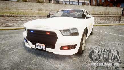 GTA V Bravado Buffalo LS Sheriff White [ELS] Sli para GTA 4