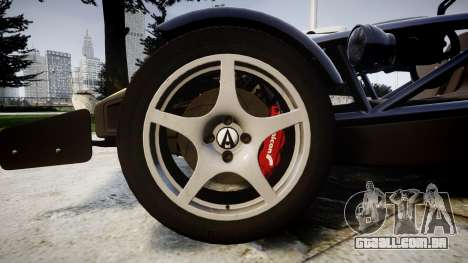 Ariel Atom V8 2010 [RIV] v1.1 Rosso & Bianco para GTA 4 vista de volta