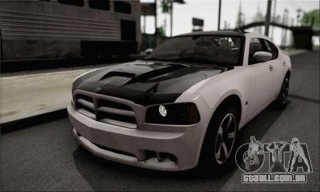 Dodge Charger SuperBee para GTA San Andreas vista traseira