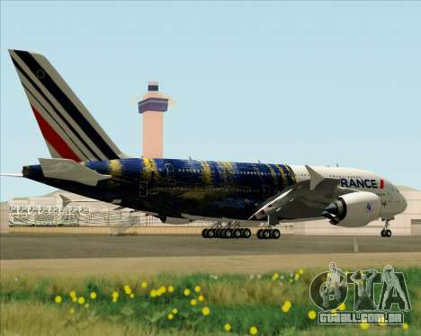 Airbus A380-800 Air France para GTA San Andreas vista interior