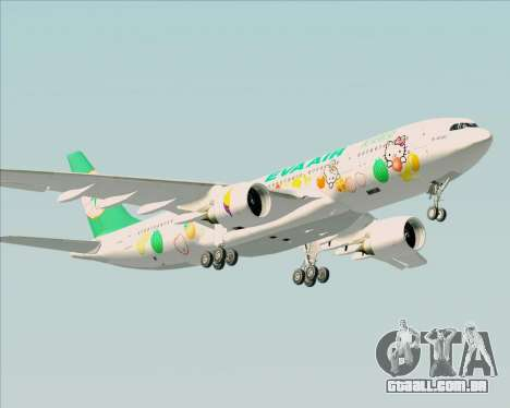 Airbus A330-200 EVA Air (Hello Kitty) para GTA San Andreas vista direita
