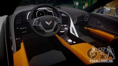 Chevrolet Corvette C7 Stingray 2014 v2.0 TireBr3 para GTA 4 vista interior