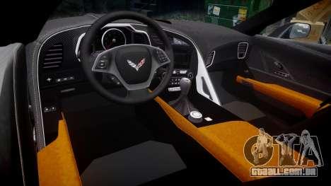 Chevrolet Corvette C7 Stingray 2014 v2.0 TireCon para GTA 4 vista interior