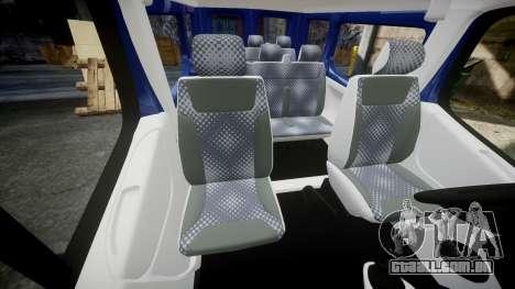 Renault Trafic Passenger para GTA 4 vista interior