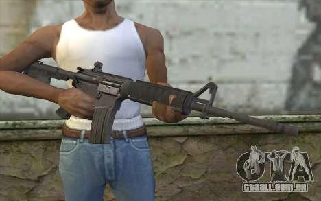 M4 de Sniper-Guerreiro Fantasma para GTA San Andreas terceira tela