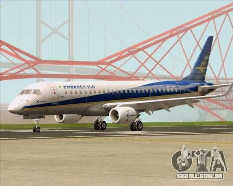 Embraer E-190-200LR House Livery para GTA San Andreas esquerda vista