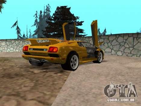 Lamborghini Diablo para GTA San Andreas esquerda vista