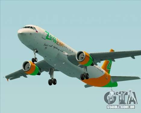 Airbus A320-200 Zest Air para o motor de GTA San Andreas