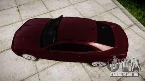 Chevrolet Camaro SS [ELS] Unmarked runners para GTA 4 vista direita