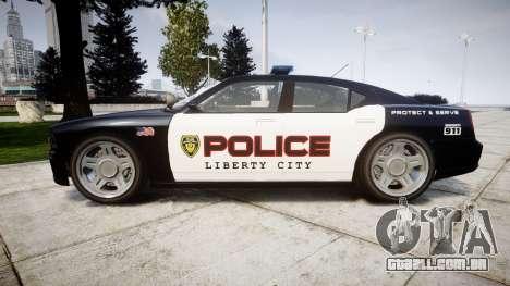 Bravado Buffalo Police LCPD para GTA 4 esquerda vista