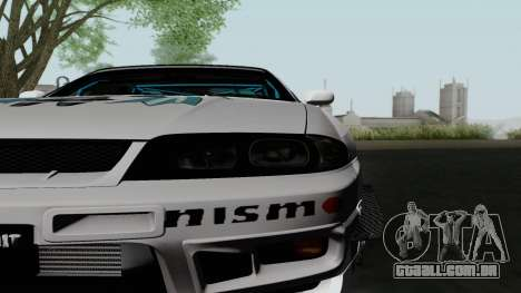 Nissan Skyline GT-R33 para GTA San Andreas vista direita