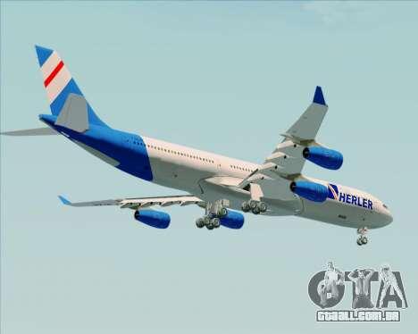 Airbus A340-300 Air Herler para GTA San Andreas vista inferior