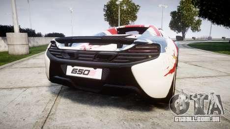 McLaren 650S Spider 2014 [EPM] v2.0 UK para GTA 4 traseira esquerda vista