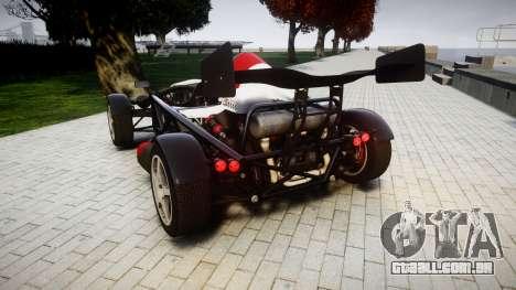 Ariel Atom V8 2010 [RIV] v1.1 Garton Racing Team para GTA 4 traseira esquerda vista
