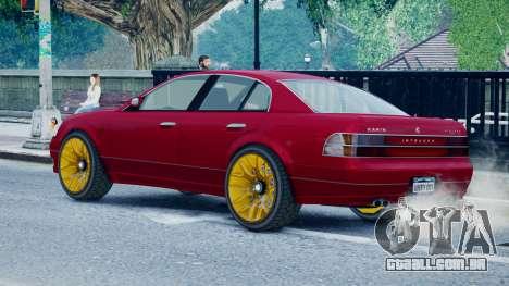 Intruder Sport para GTA 4 esquerda vista