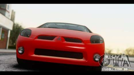 Mitsubishi Eclipse 2006 para GTA San Andreas traseira esquerda vista