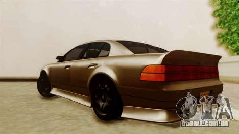 GTA 5 Intruder Tuning Bumpers para GTA San Andreas esquerda vista