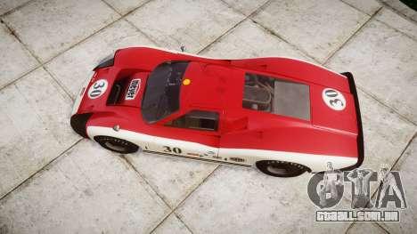 Ford GT40 Mark IV 1967 PJ Meyer 30 para GTA 4 vista direita
