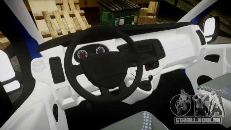 Renault Trafic Passenger para GTA 4 vista de volta