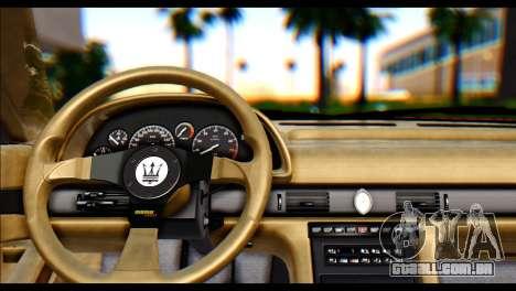 Maserati Ghibli II Cup (AM336) 1995 [ImVehFt] para GTA San Andreas traseira esquerda vista