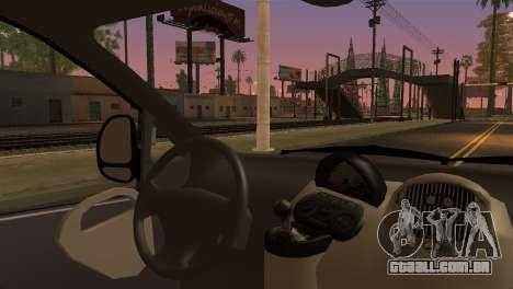 Fiat Multipla Black Bumpers para GTA San Andreas traseira esquerda vista