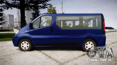 Renault Trafic Passenger para GTA 4 esquerda vista