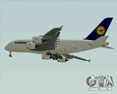 Airbus A380-800F Lufthansa Cargo para GTA San Andreas vista direita