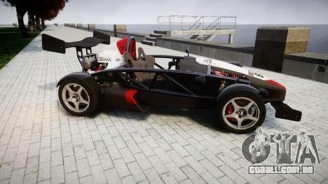 Ariel Atom V8 2010 [RIV] v1.1 Garton Racing Team para GTA 4 esquerda vista