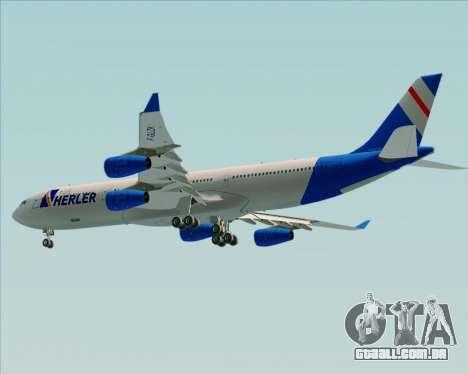 Airbus A340-300 Air Herler para GTA San Andreas vista traseira