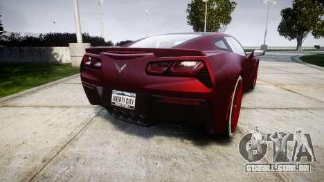 Chevrolet Corvette C7 Stingray 2014 v2.0 TireKHU para GTA 4 traseira esquerda vista