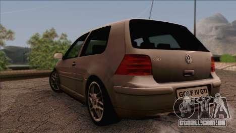 Volkswagen Golf Mk4 GTI para GTA San Andreas esquerda vista