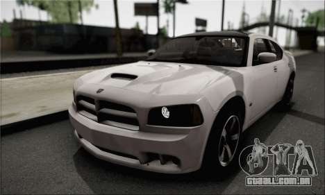Dodge Charger SuperBee para vista lateral GTA San Andreas
