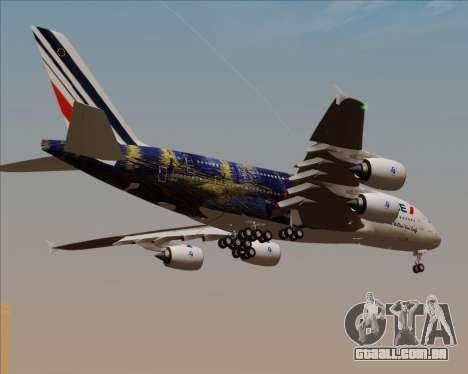 Airbus A380-800 Air France para vista lateral GTA San Andreas