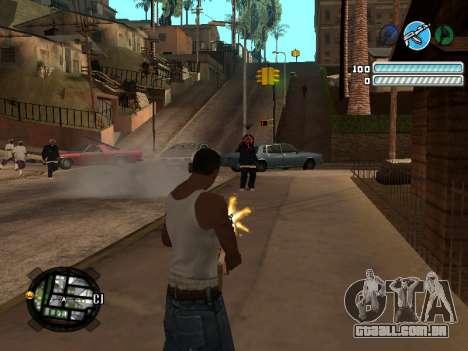 Respect C-HUD para GTA San Andreas terceira tela