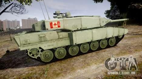 Leopard 2A7 CA Green para GTA 4 esquerda vista
